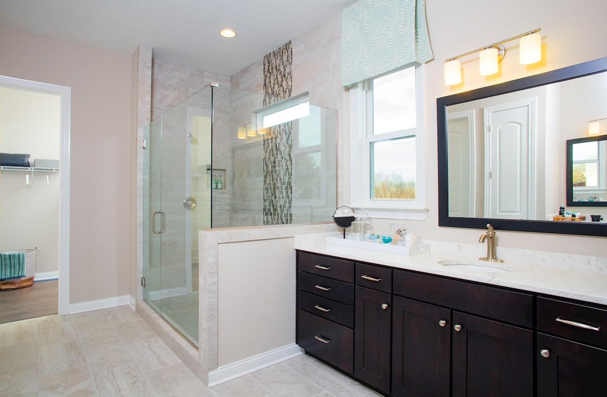 Windsor master bathroom with tiled shower