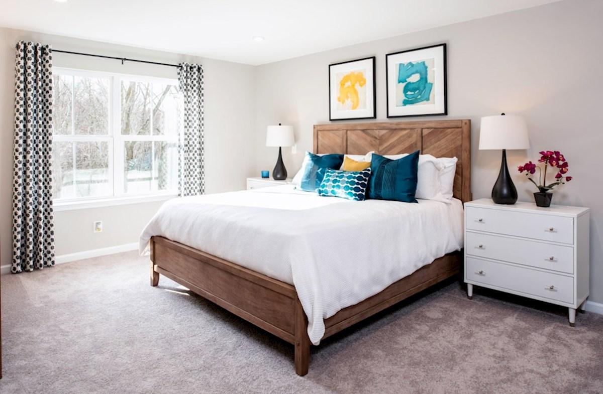Riverwalk at Crofton Townhomes Potomac Potomac master suite with carpet and large windows
