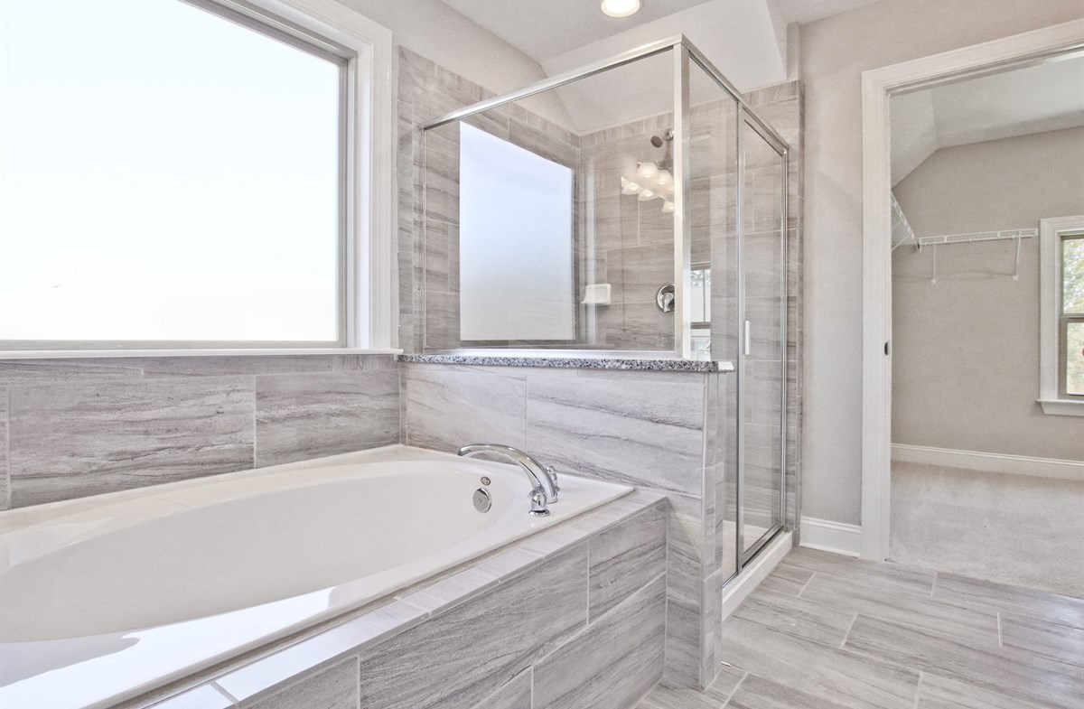 Kensington Manchester Master Bathroom with soaker tub
