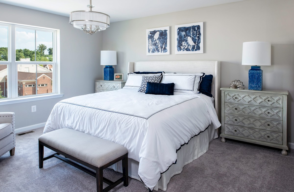 Ellicott master suite offers tons of natural light