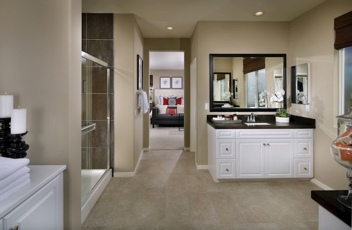 Provence at Heritage Ranch Reserve Master bathroom has separate vanities to give you more space and privacy.