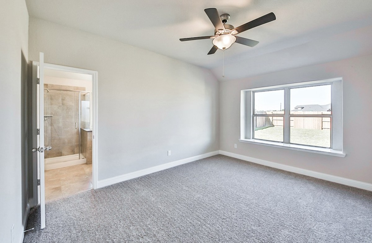 Anderson quick move-in master bedroom with carpet and window seat