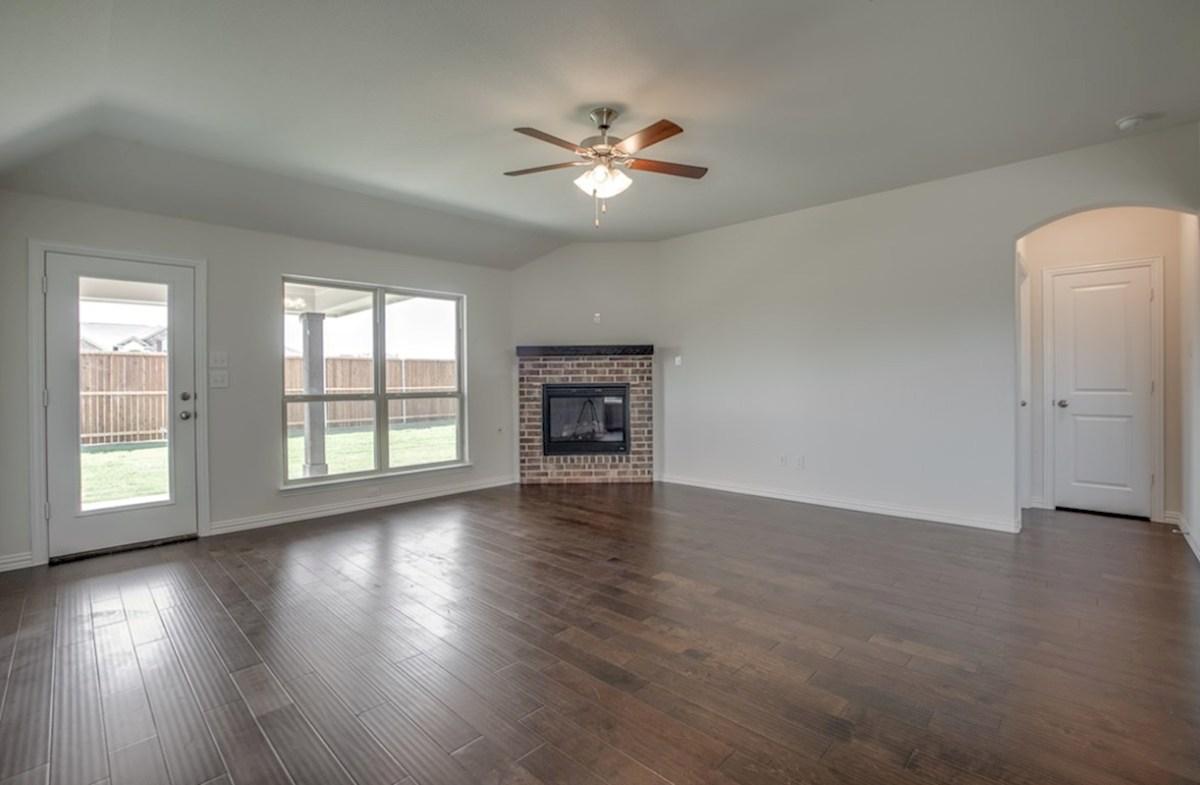 Silverado quick move-in Silverado great room with large windows