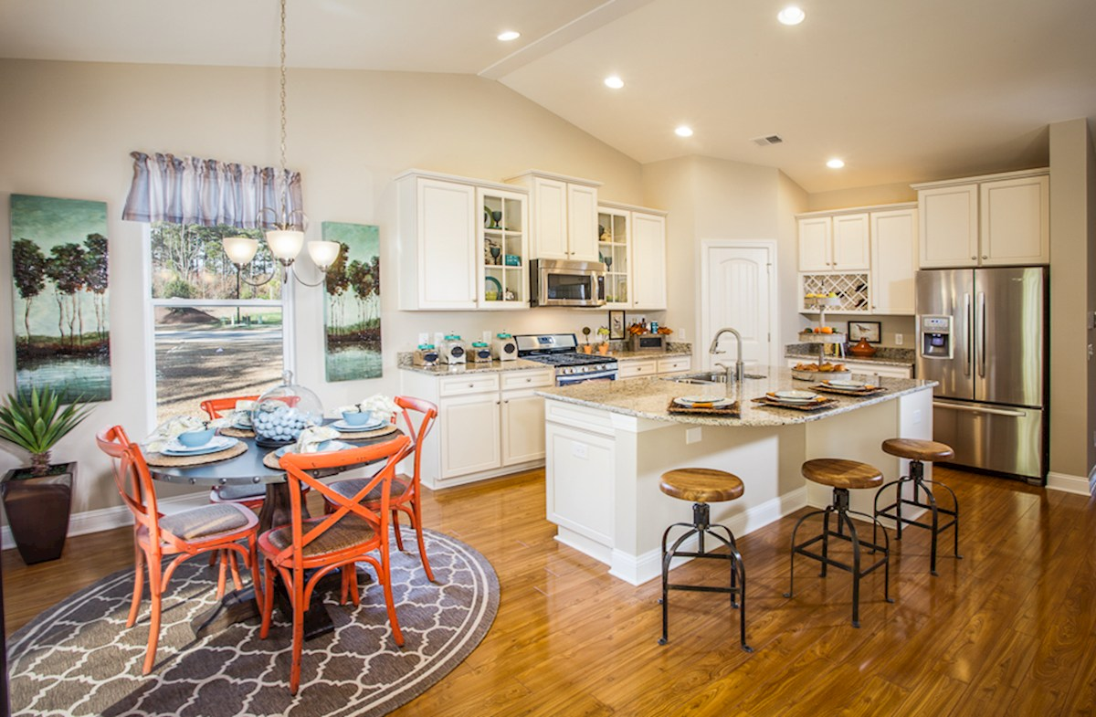 Park Place Savannah Toasted Antique White Cabinets with Granite Tops