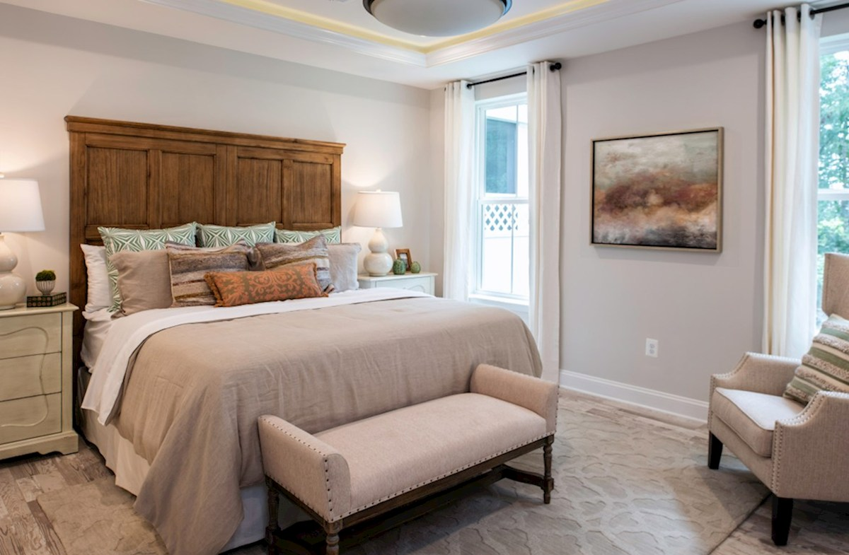 Bishop's Landing Bayard Bayard master suite with a tray ceiling