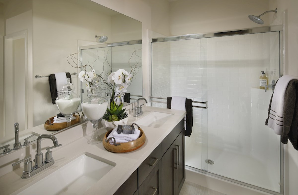 Orchid quick move-in Separate vanities give you more space and privacy