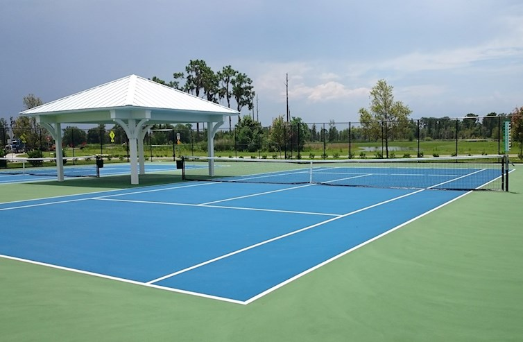 Community sports tennis courts