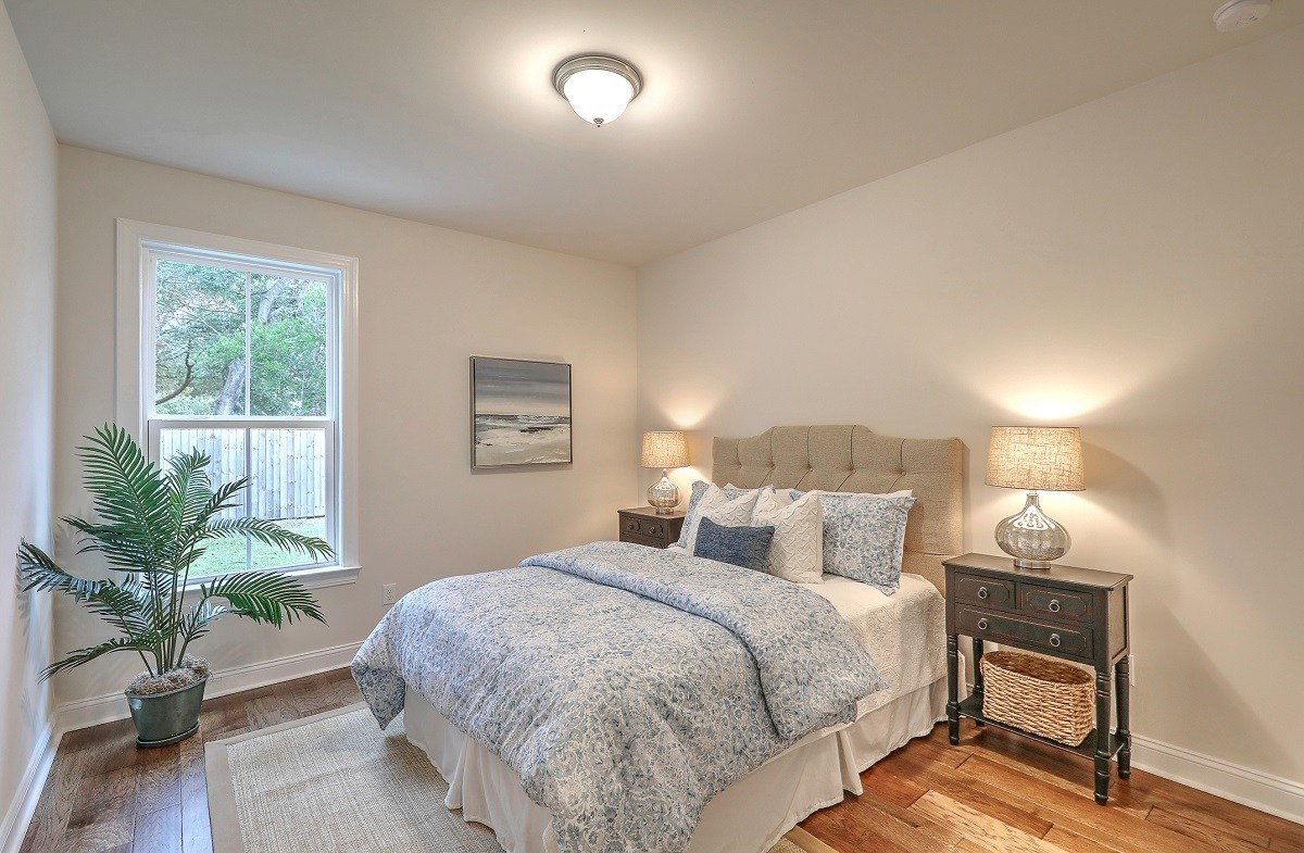White Oak quick move-in guest bedroom
