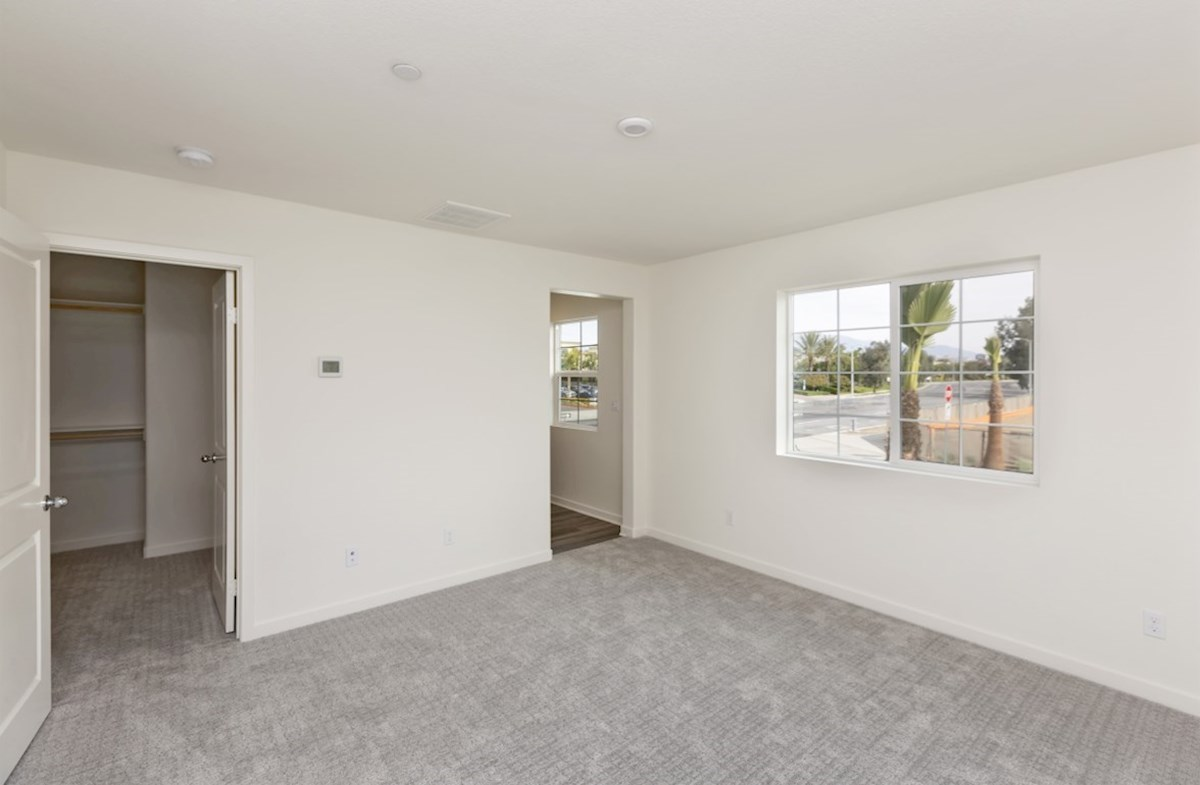 Bristol quick move-in Master bedroom separated from secondary bedrooms to create privacy and reduce noise