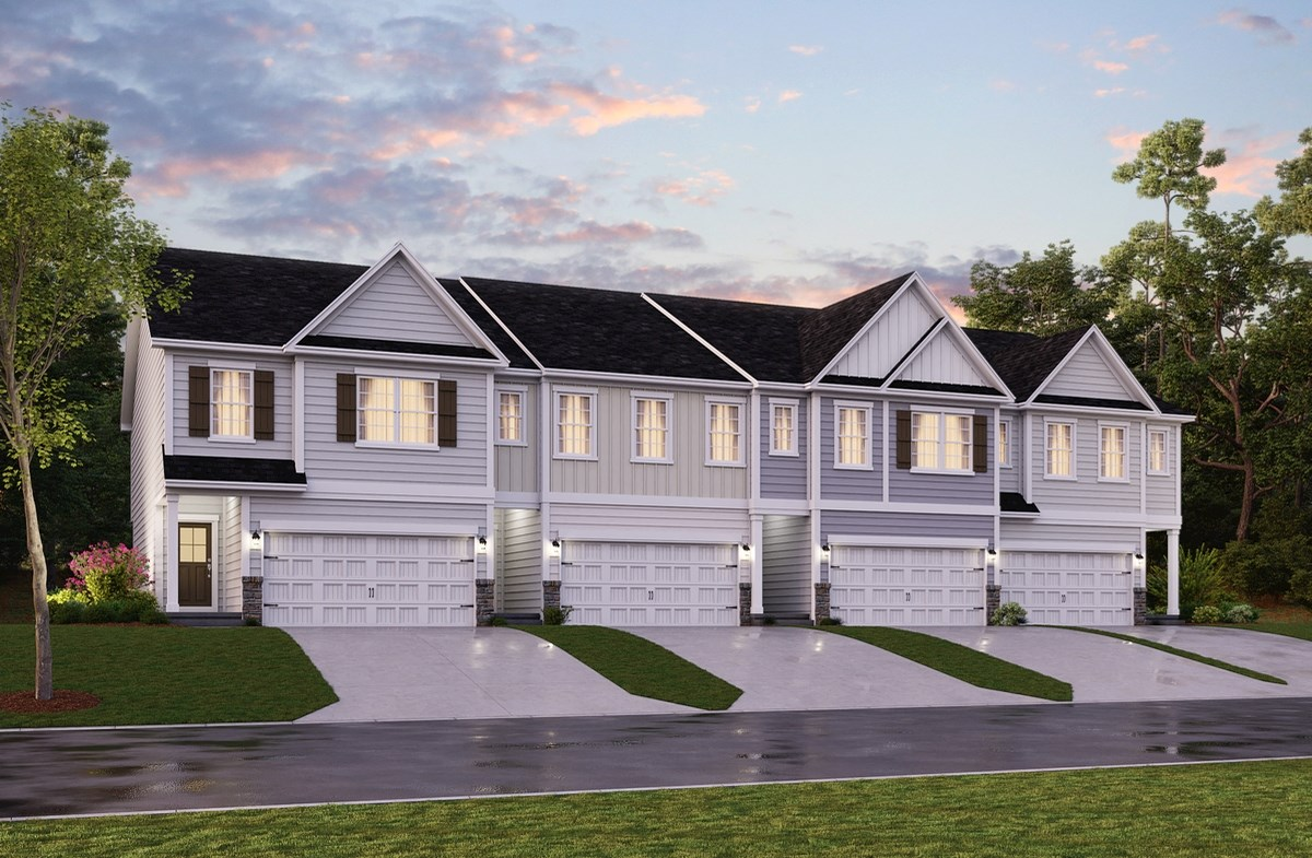 Cary, NC new homes Carpenters Pointe townhomes