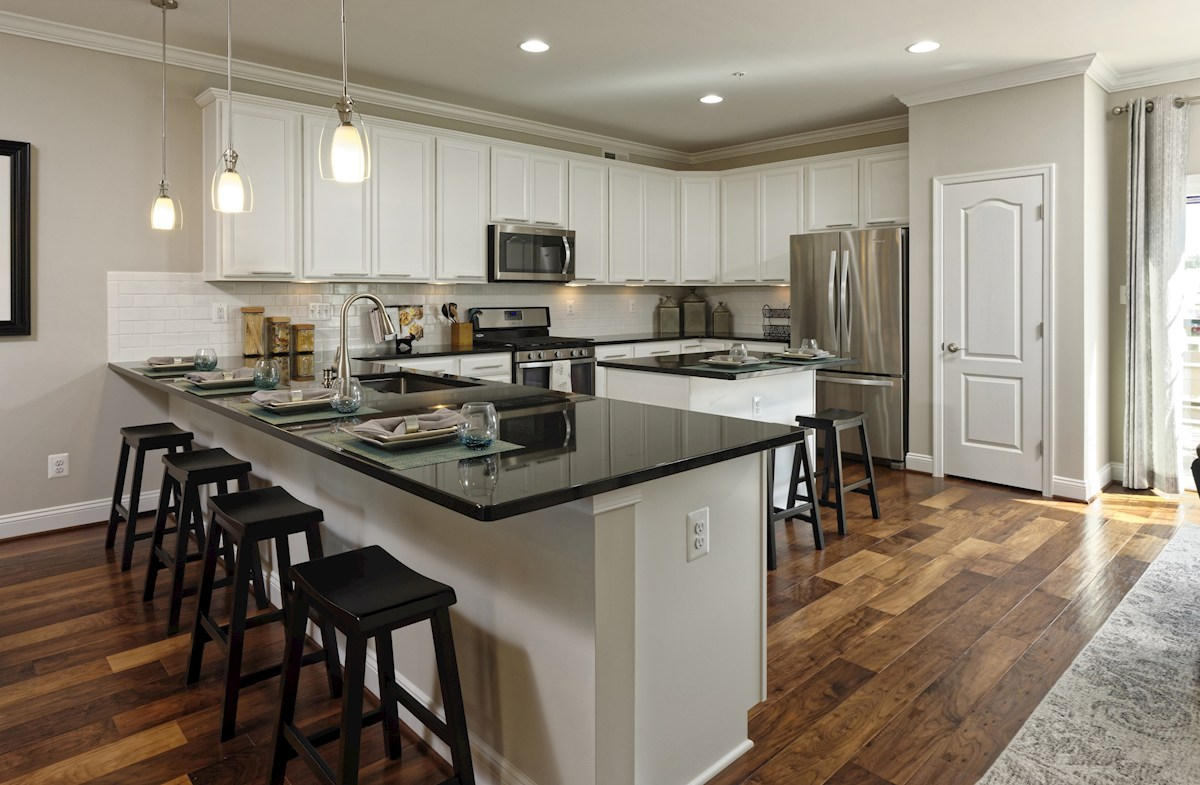 The Preserve at Windlass Run Townhomes  Frederick Breakfast bar in the Frederick Kitchen