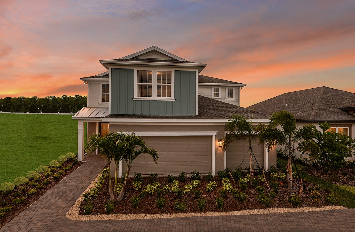 Coastal exterior with metal roof accents