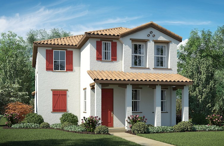 Residence 1 Elevation Spanish Colonial A