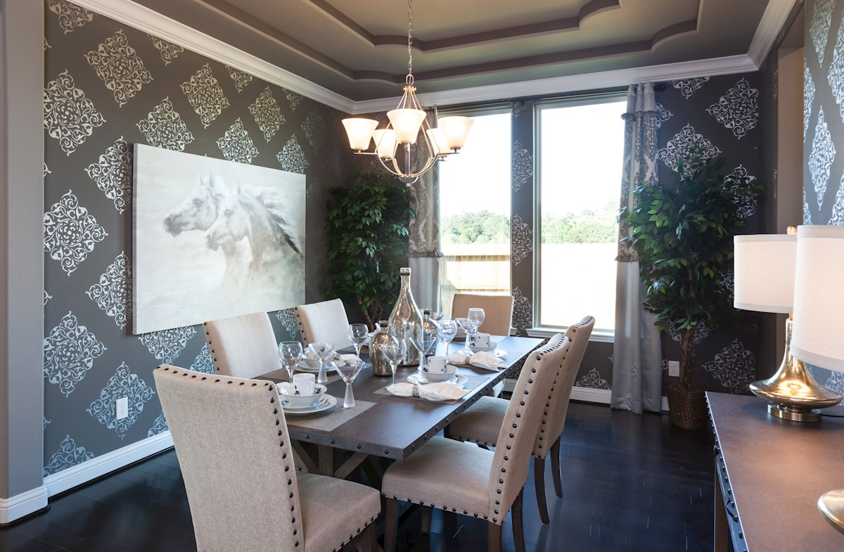 Young Ranch McArthur elegant formal dining room