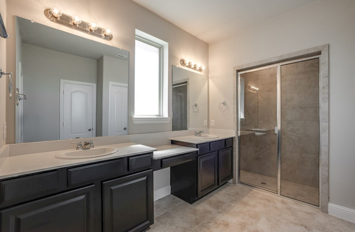 Blakely quick move-in master bath with dual vanities