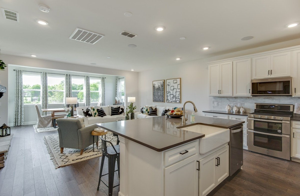 Magnolia Farms Landon open concept kitchen