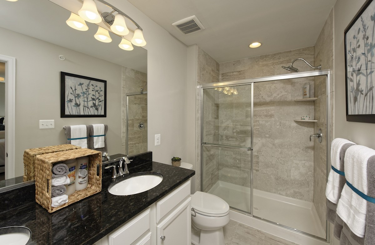 The Preserve at Windlass Run Townhomes  Frederick Frederick Master Bathroom