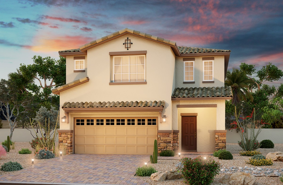Tuscan exterior on the Valencia plan