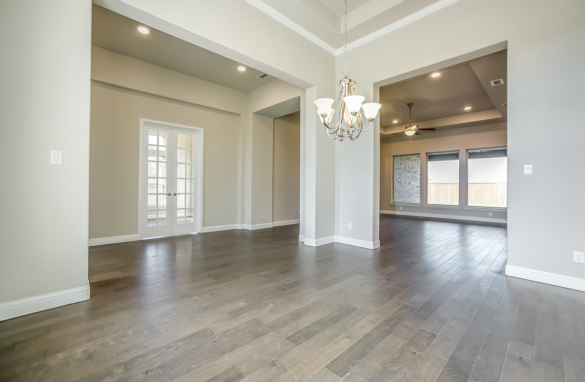 Calais quick move-in wood flooring in dining areas