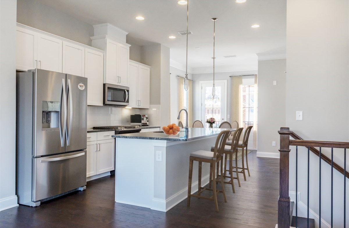 Morningside Towns Piedmont II Kitchen with white cabinets