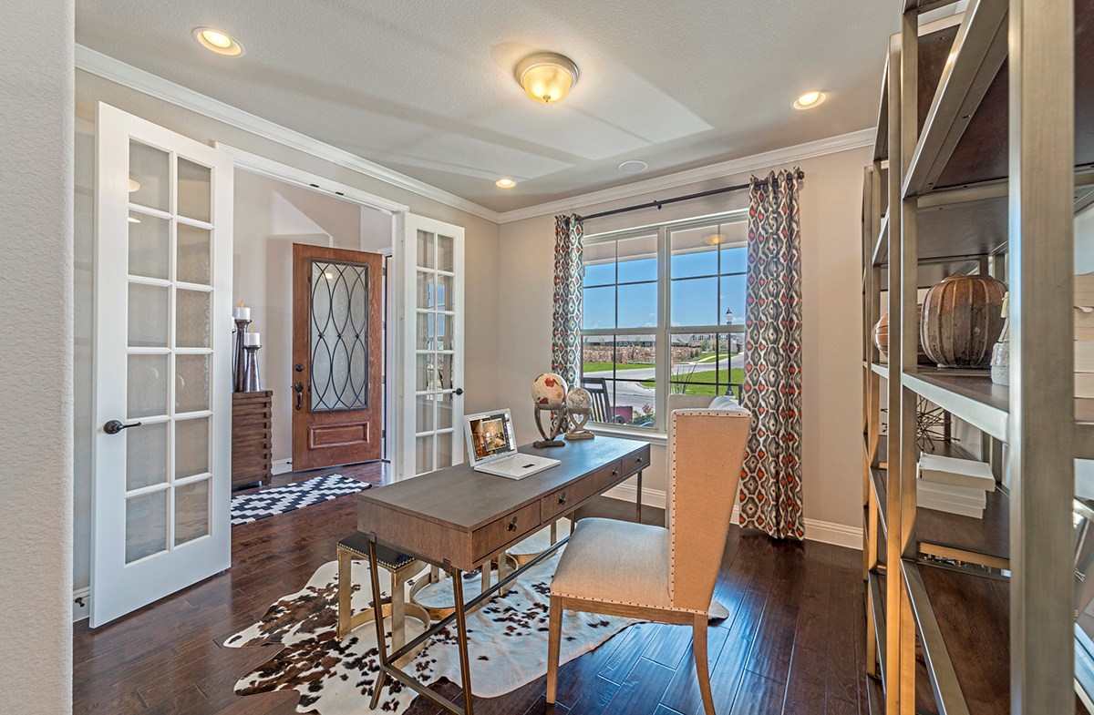 Brookhaven private study with french doors