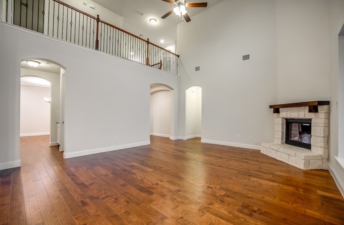Trinity quick move-in open great room with soaring ceilings