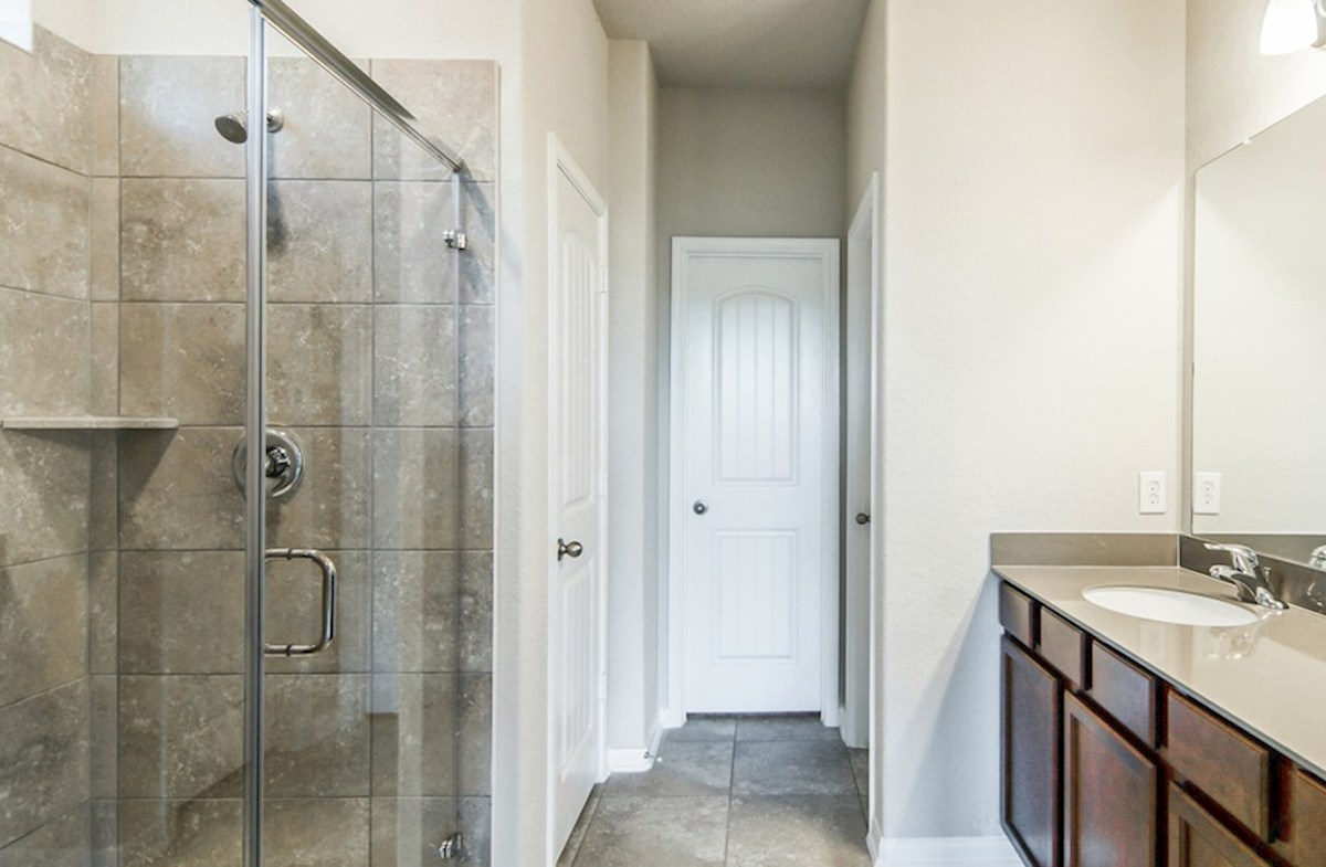 Franklin quick move-in master bathroom with stand up shower