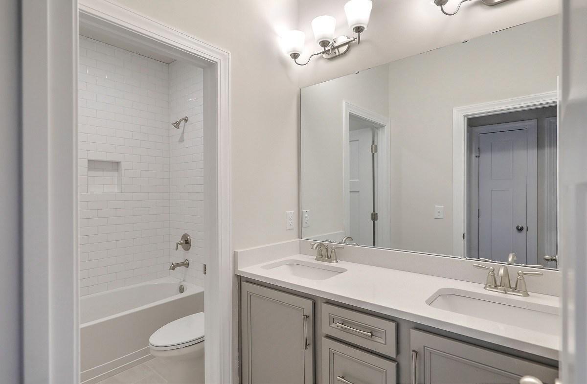 White Oak quick move-in large secondary bathroom