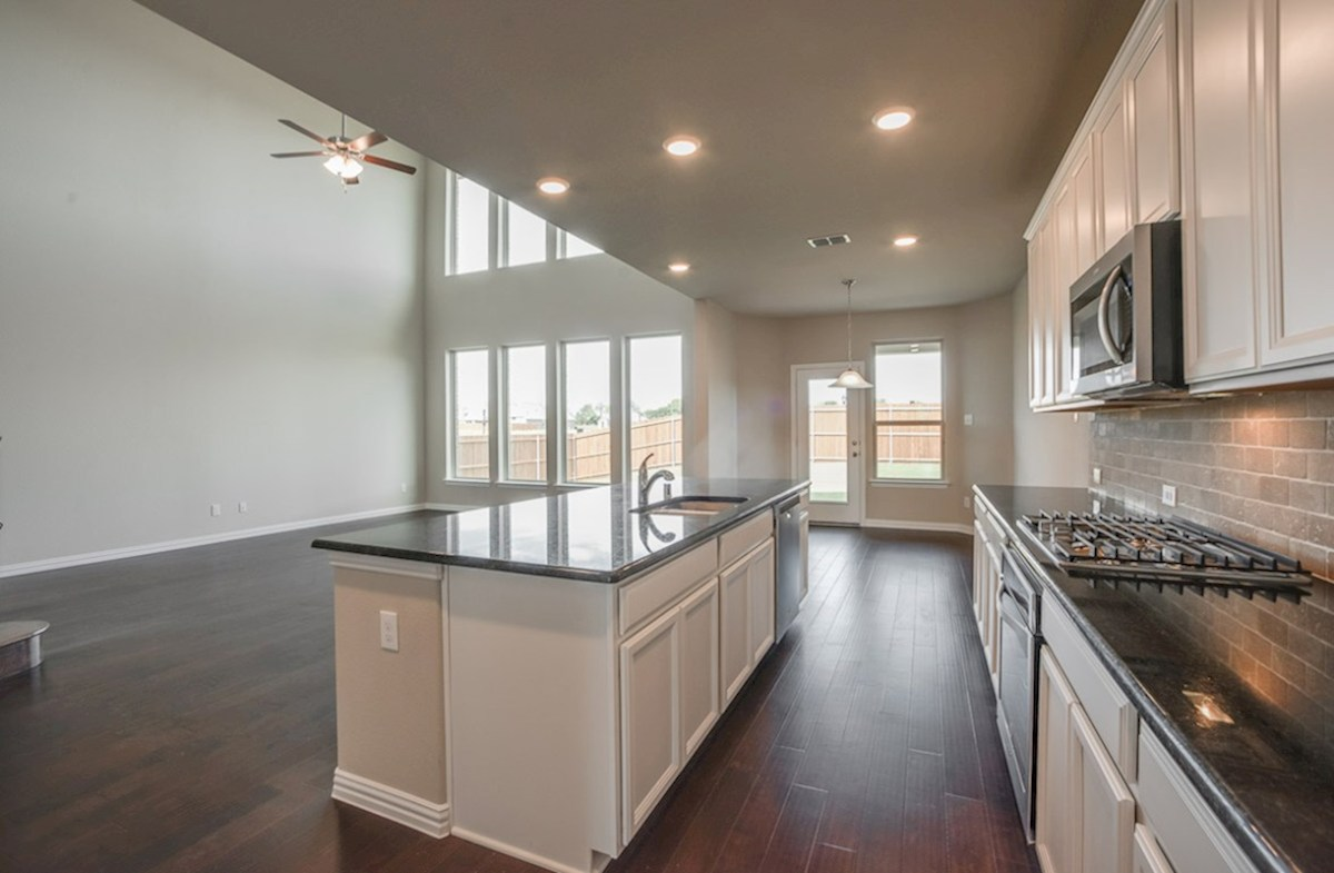 Madison quick move-in kitchen opens to great room