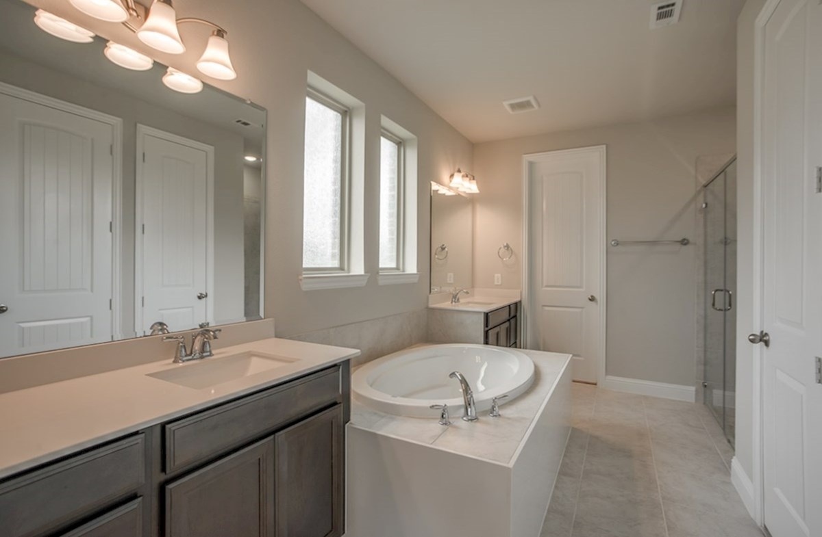 Riverdale quick move-in Riverdale master bathroom with two vanities