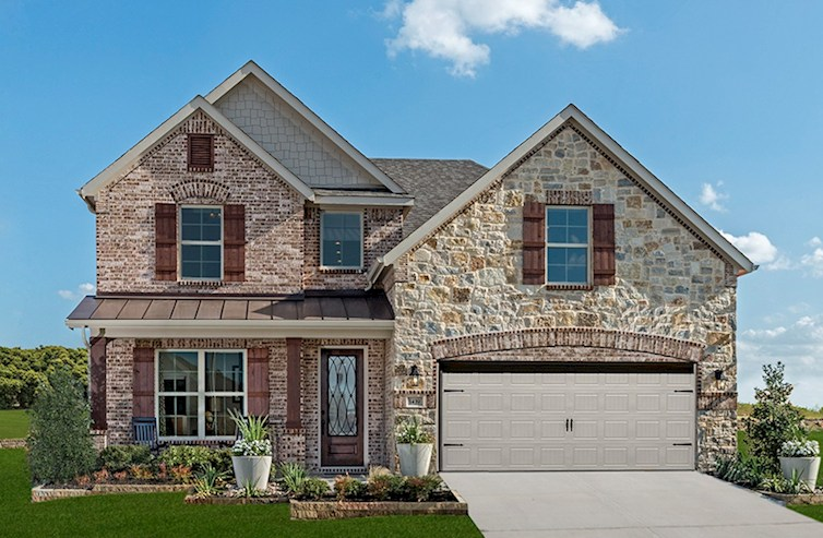 Brookhaven brick and stone exterior