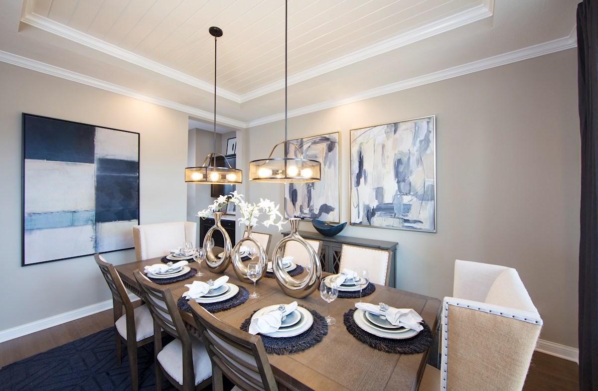 Formal dining room in the Tarkington Plan