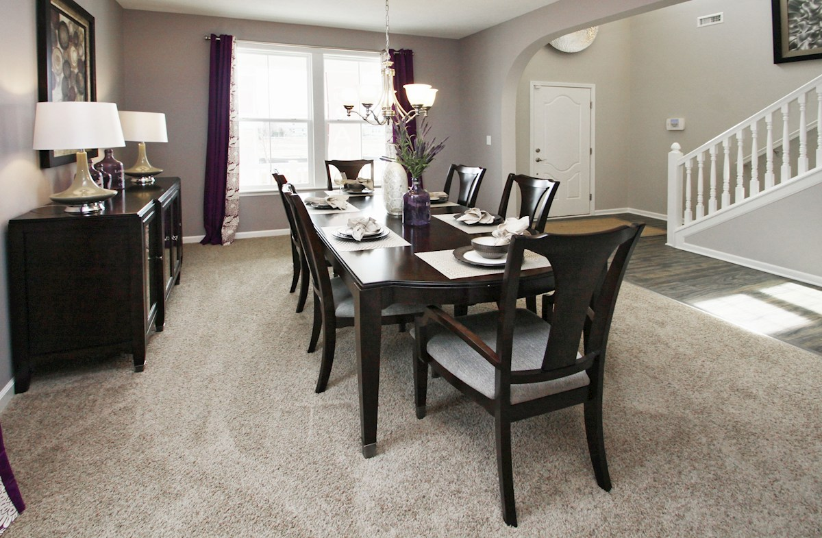 Heritage Trace Bradley dining room offers an open space for family gatherings
