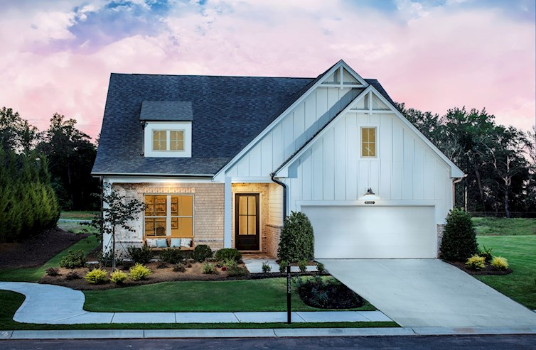 Ranch-style home front exterior with 2-car garage