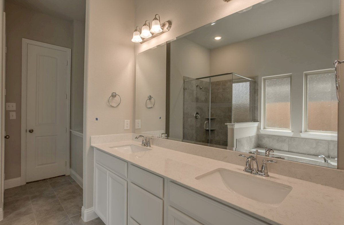 Mercer Crossing Windermere Jefferson Jefferson master bathroom with double vanities