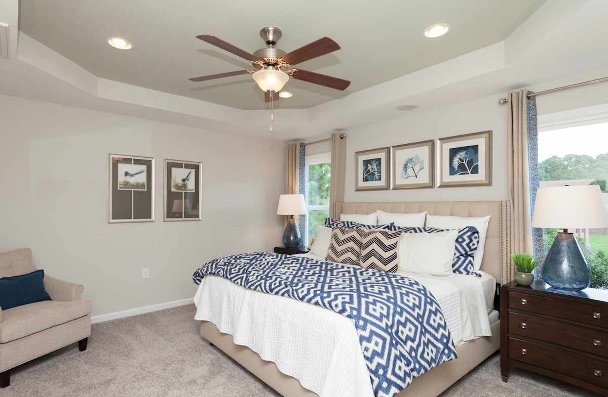 tray ceiling master bedroom