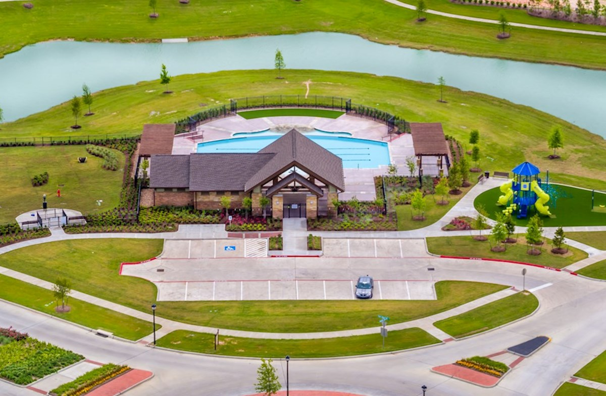 Recreation center with pool and splash pad