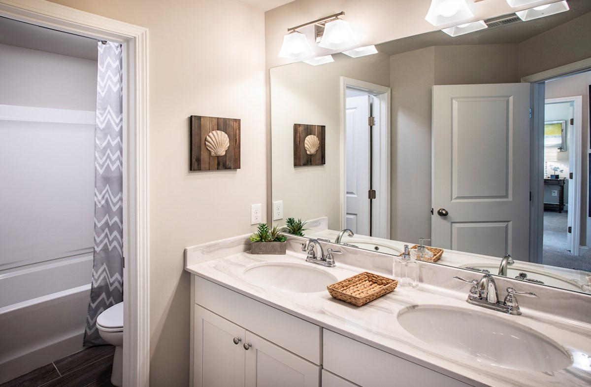 Secondary Bathroom with dual sinks