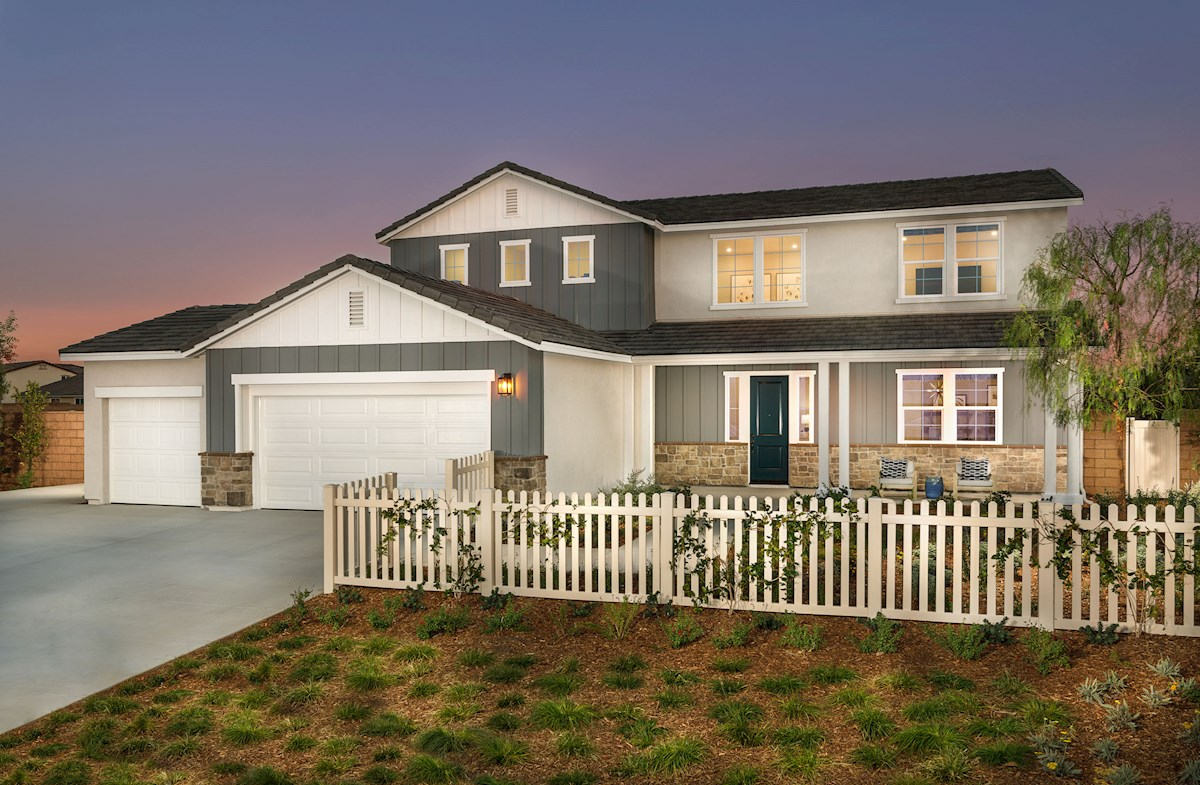 two-story model home with a mother-in-law suite