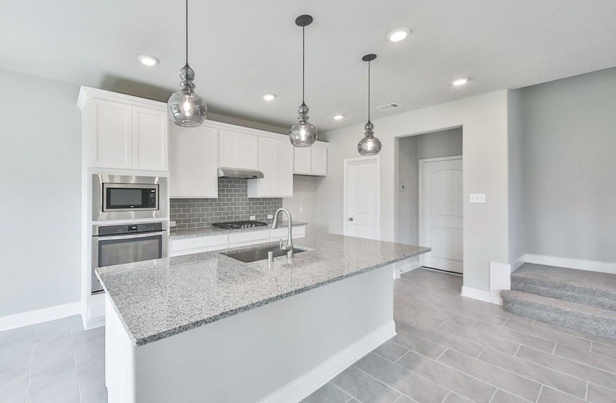 Juniper quick move-in granite countertops in kitchen