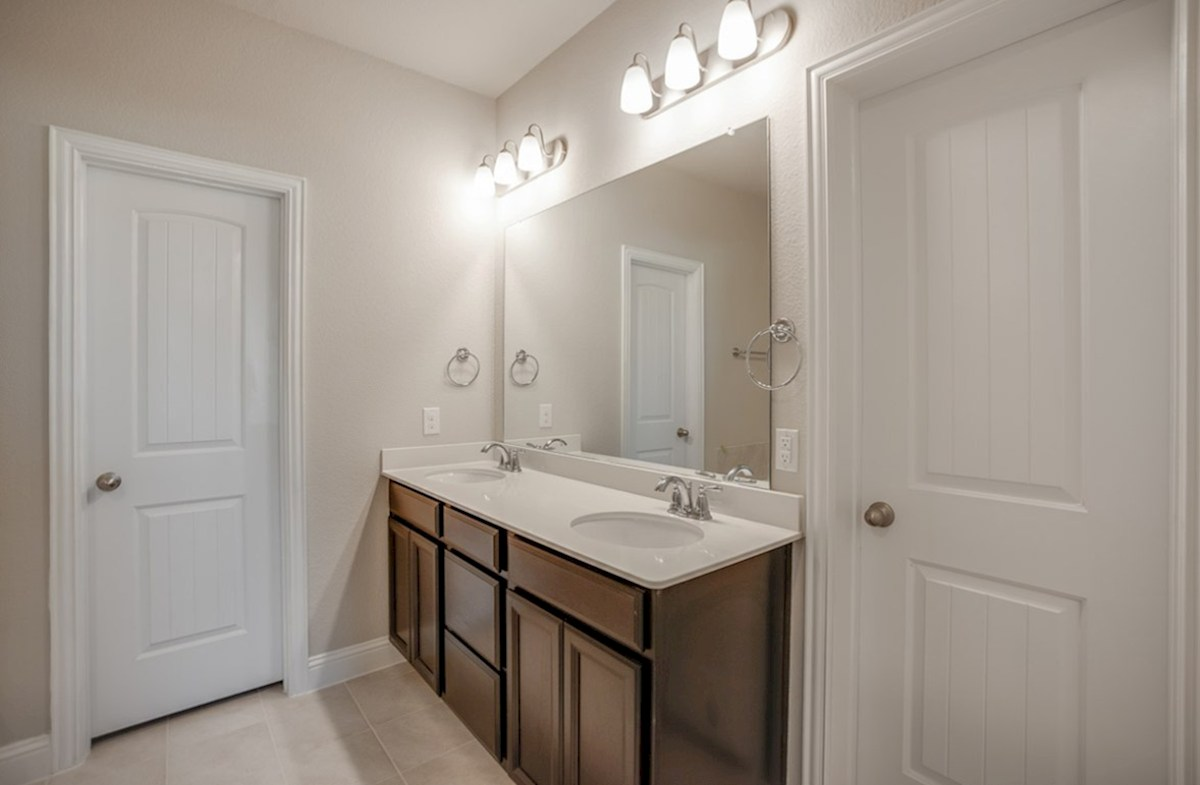 Millbrook quick move-in Millbrook master bathroom with double vanity