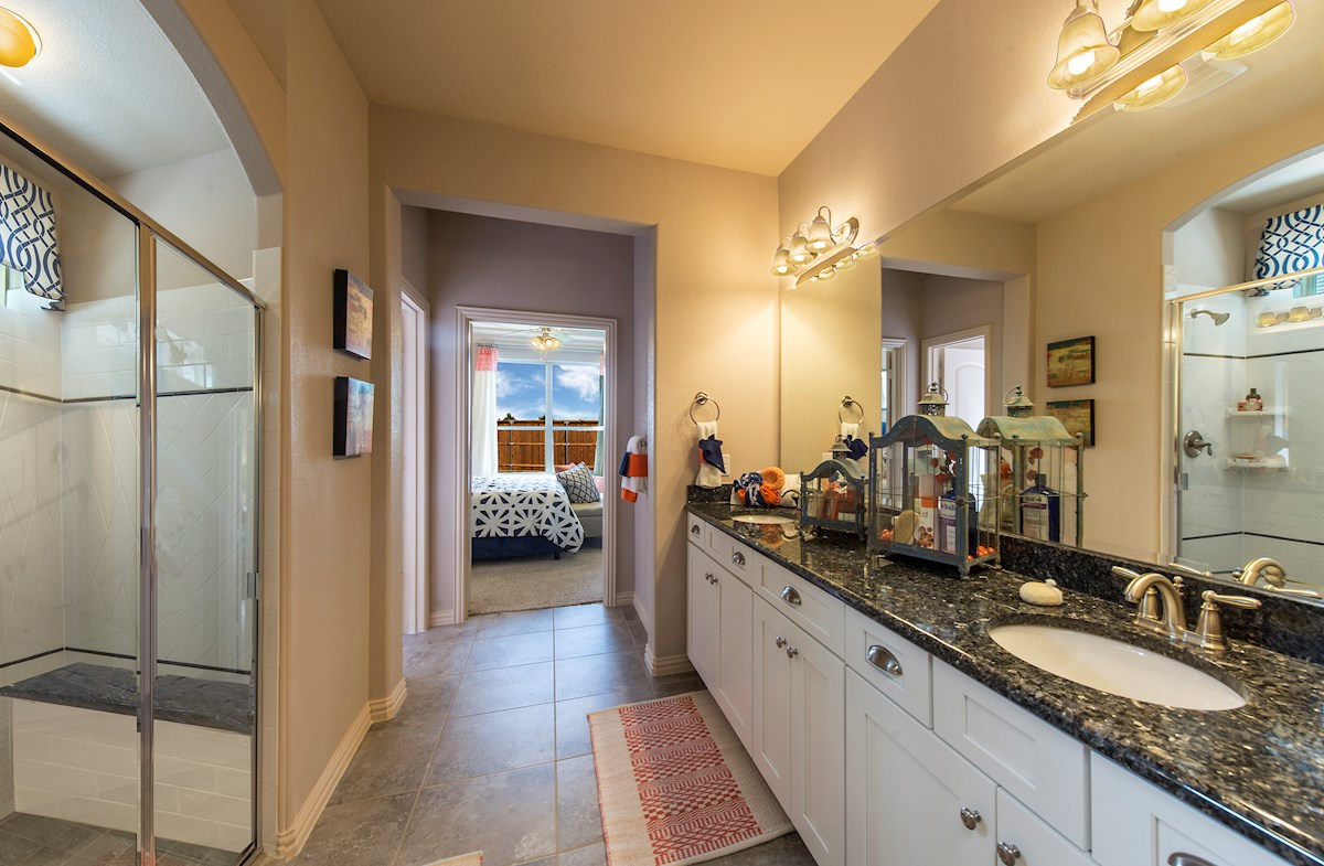 Brookhaven with large sports shower