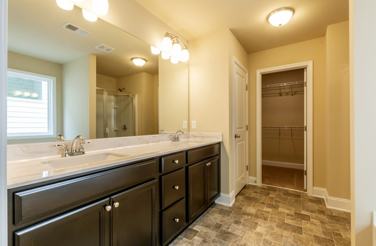 Milford Point Duval Master Bathroom with dual sinks