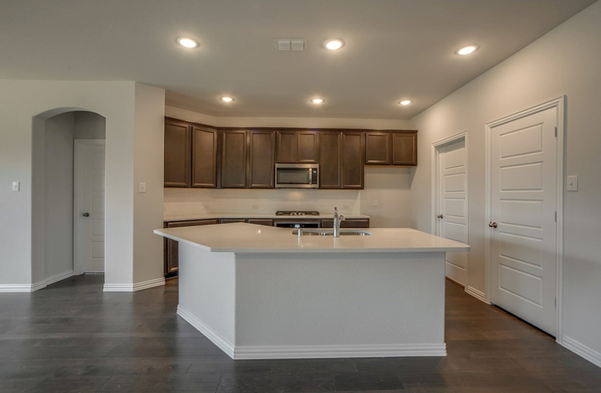 Baxter quick move-in kitchen with island and granite countertops