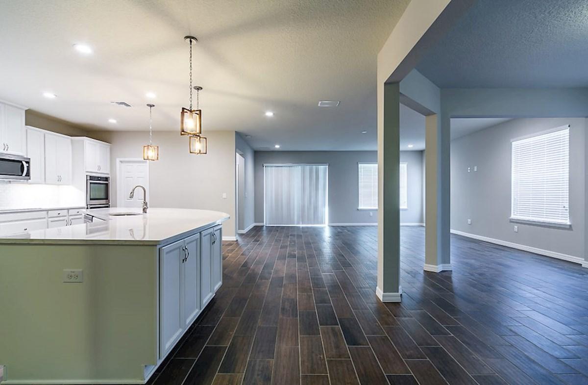 Redwood quick move-in Open floor plan with wood-look tile