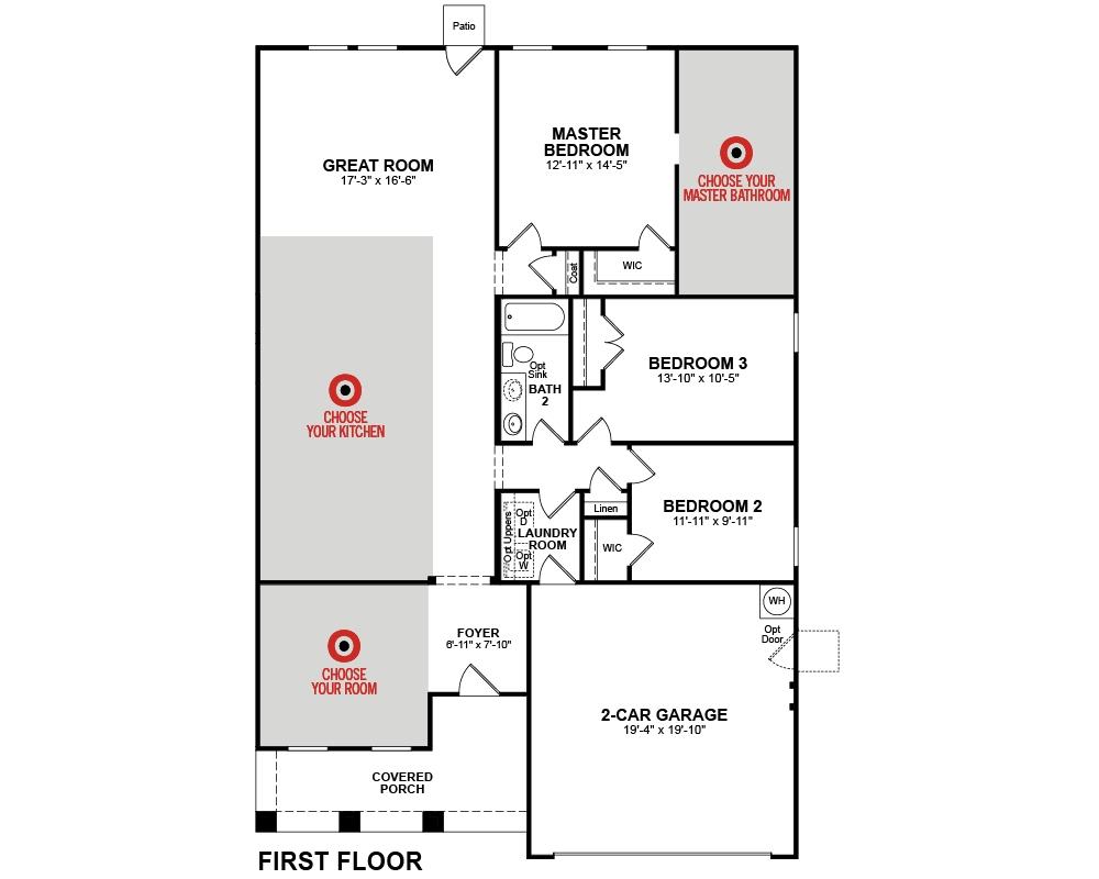 Hamilton Home Plan In Hunt Club Pooler Ga Beazer Homes