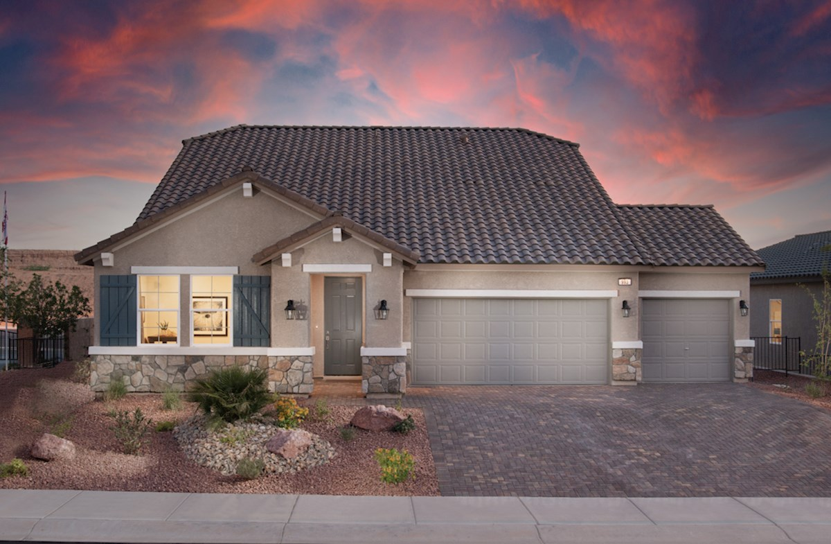 Everett model home with Tuscan Exterior