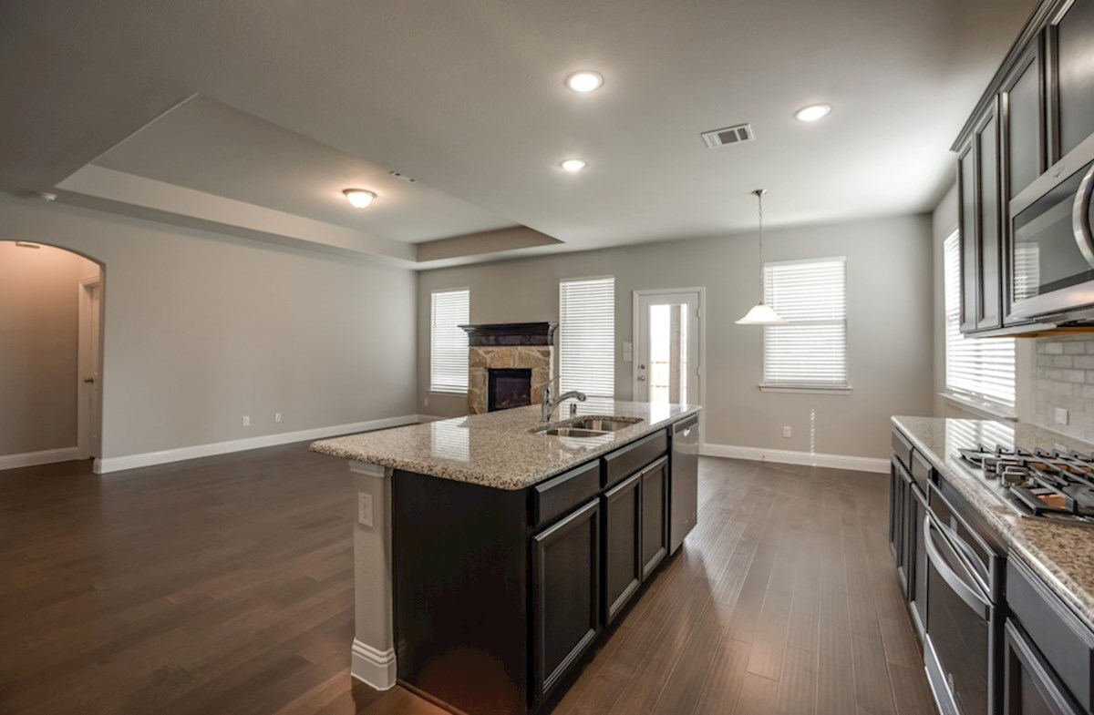 Avalon quick move-in kitchen opens to great room