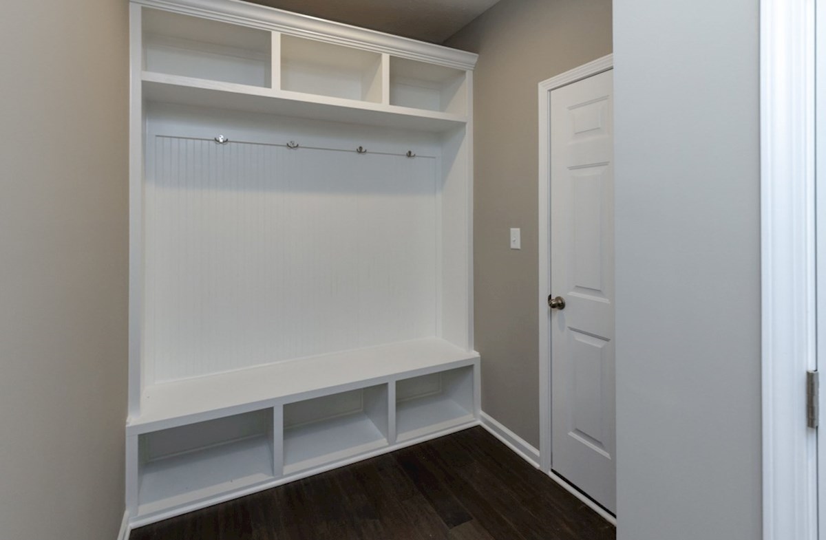 Shelby quick move-in mud room with bench and coat rack