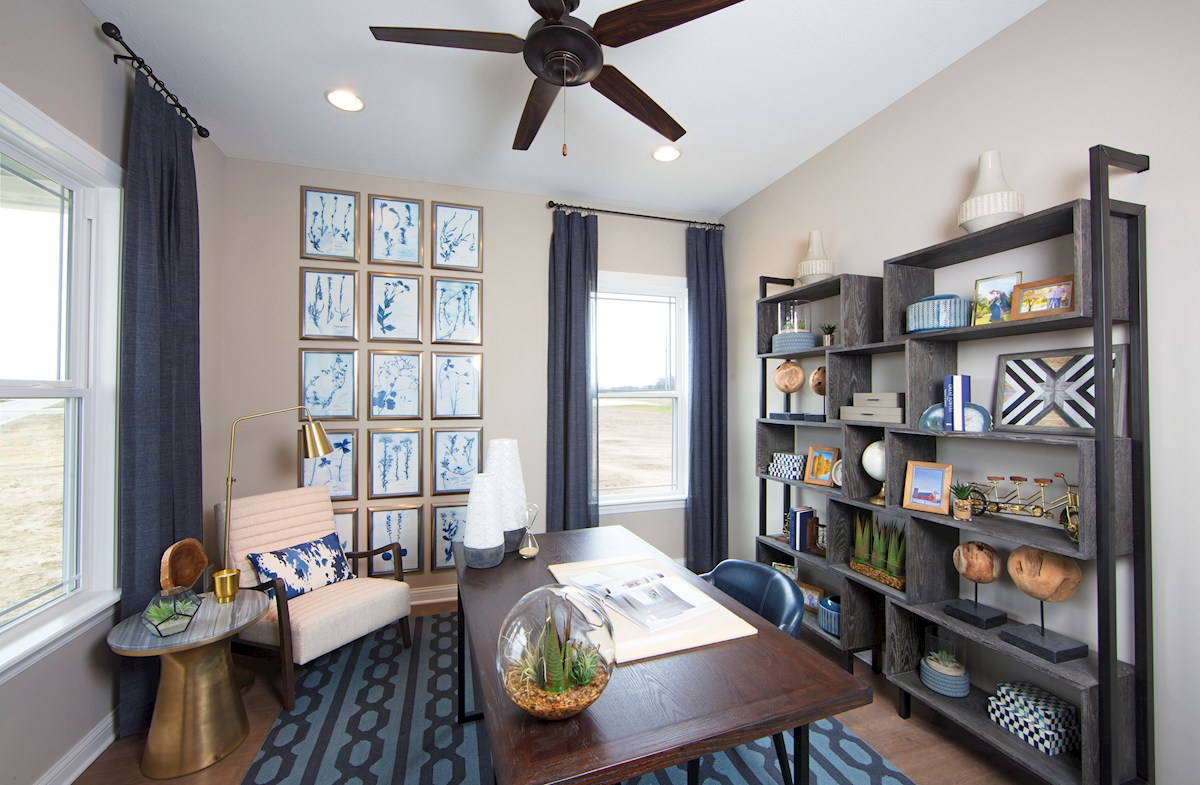 Tarkington boasts a private home office